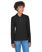 Ladies D110W  Devon & Jones Ladies' Pima Piqué Long-Sleeve Polo