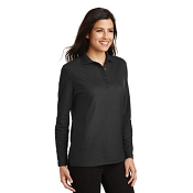 L500LS  Ladies Silk Touch™ Long Sleeve Polo.