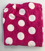 Hot Pink With White Pokla Dots Wrap