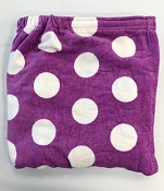 Purple With White Pokla Dots Wrap