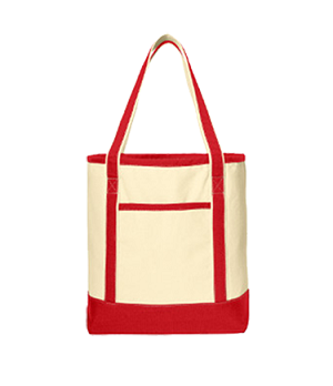 BG413  Large Cotton Canvas Boat Tote